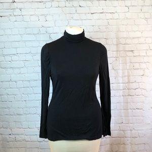 Apt 9 long sleeve T neck w ruching at collar